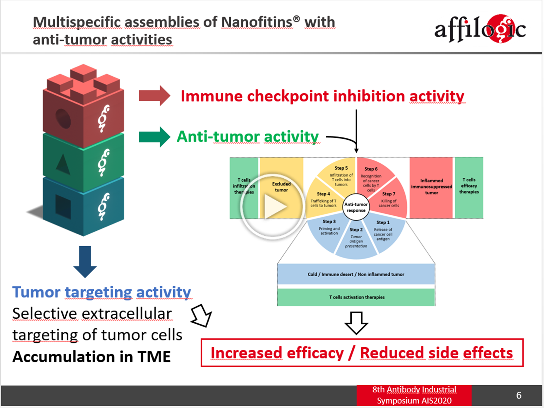 Development of multispecific assemblies of Nanofitins with anti-tumor activities